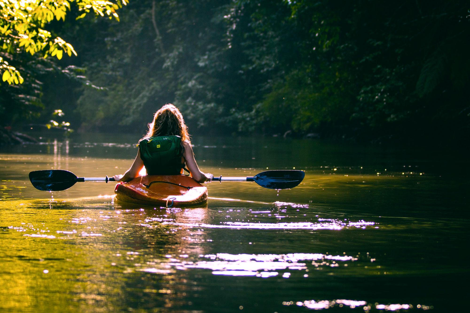 Kayak en el Pantano de Pena de Beceite